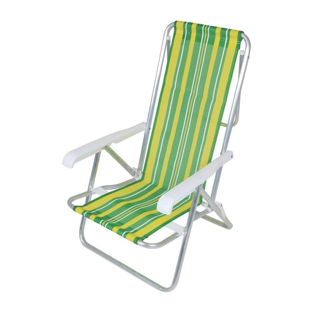 Cadeira Reclinavel Mor 8 Posições Alumínio