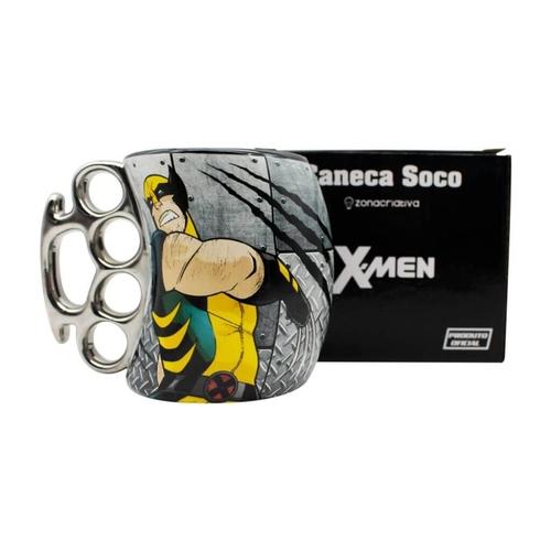 Caneca Soco Inglês Wolverine Marvel  Metal 350ML - X man