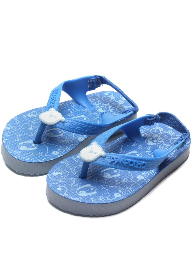 Chinelo Pimpolho Infantil Cachorro Azul