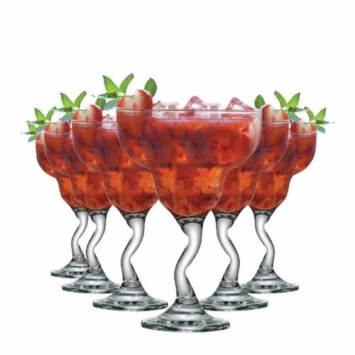 Conjunto de taças Margarita Twister Ruvolo Transparente