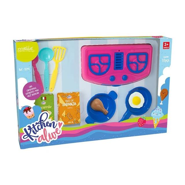 Cozinha Infantil Kitchen Alive Mielle 10 peças-Acessórios