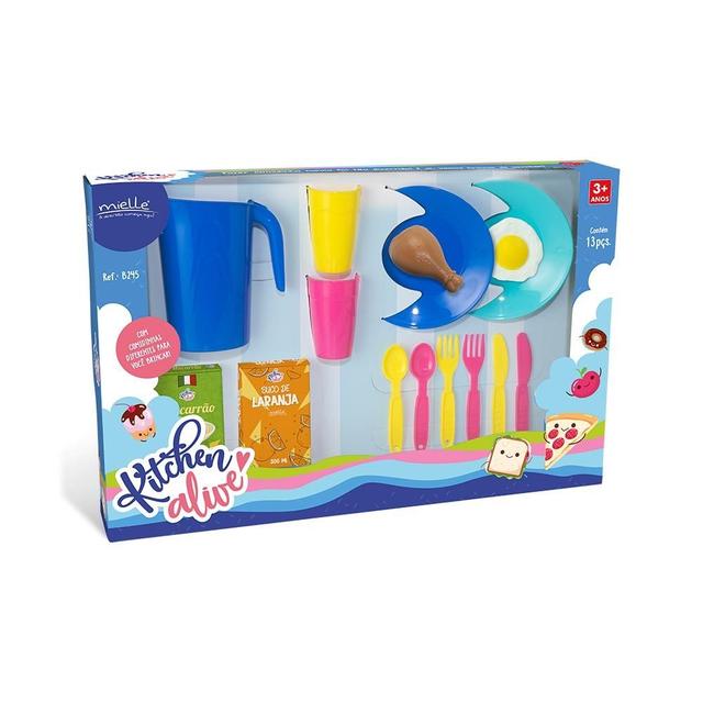 Cozinha Infantil Kitchen Alive Mielle 15 peças Acessórios