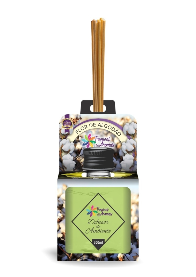 Difusor de Aromas Flor de Algodão Tropical Aromas 300 ml