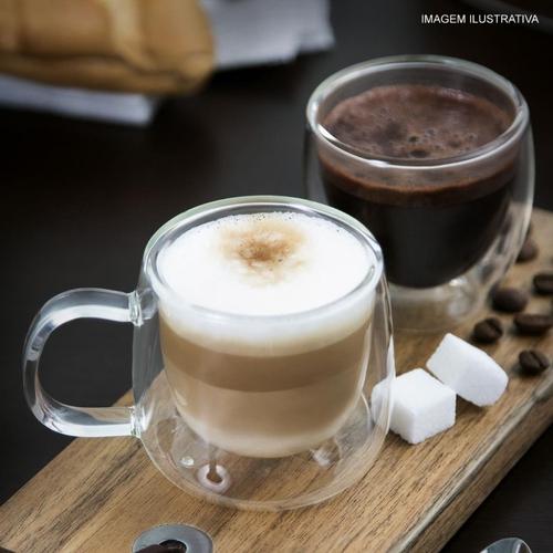 Dupla De Xícaras Para Café Parede Mimo Style 80 ml 6678
