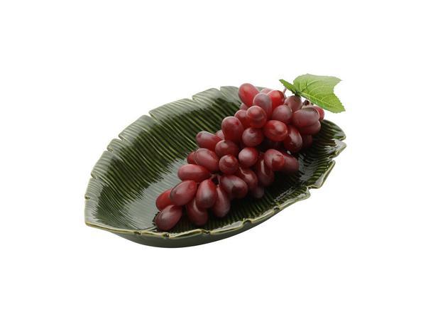 Folha decorativa cerâmica banana leaf Lyor verde 23x16x4,5cm
