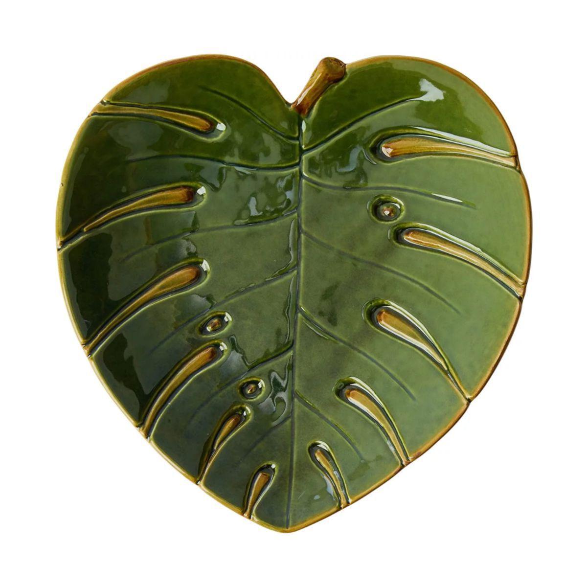 Folha decorativa de Cerâmica Costela de Adão Lyor LEAF- Verde