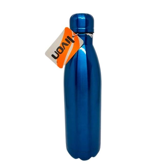 Garrafa 750ml azul Livon inox