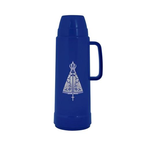 Garrafa Térmica Mor Estampa Nossa Senhora 1L- Mor Azul