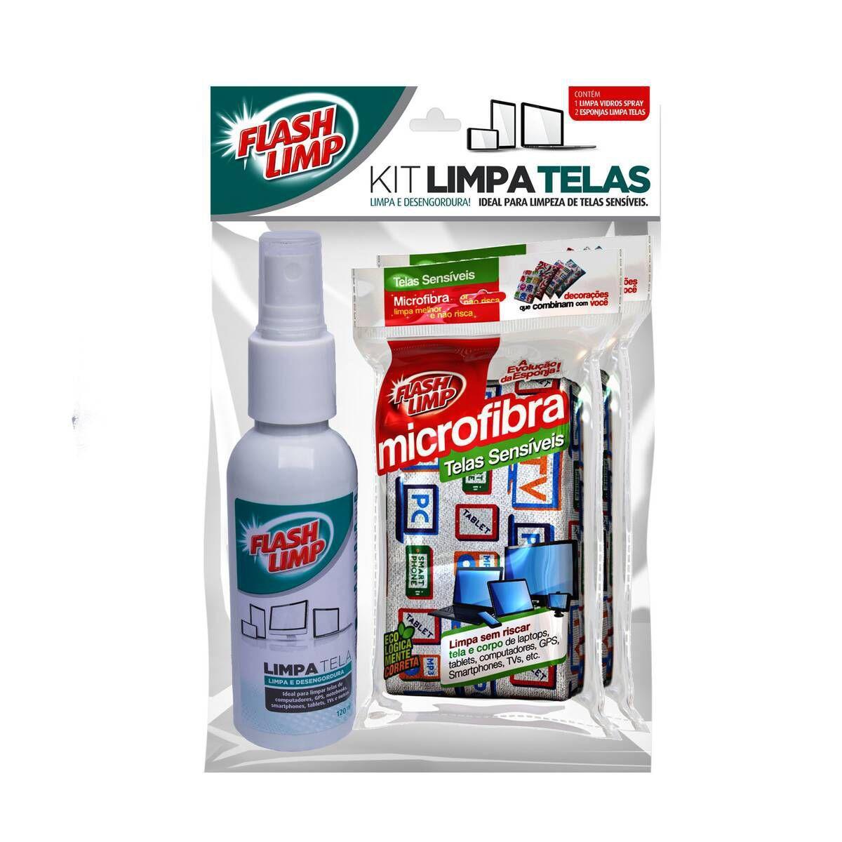 Kit Limpa Telas- FLASH LIMP Limpa e Desengordura