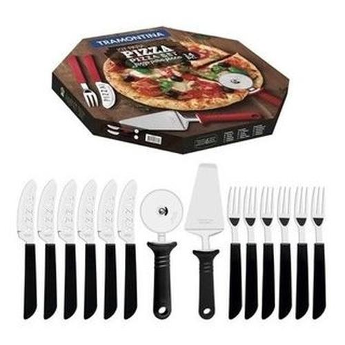 Kit Para Pizza Tramontina Com Lâminas Em Aço Inox 14 Peças