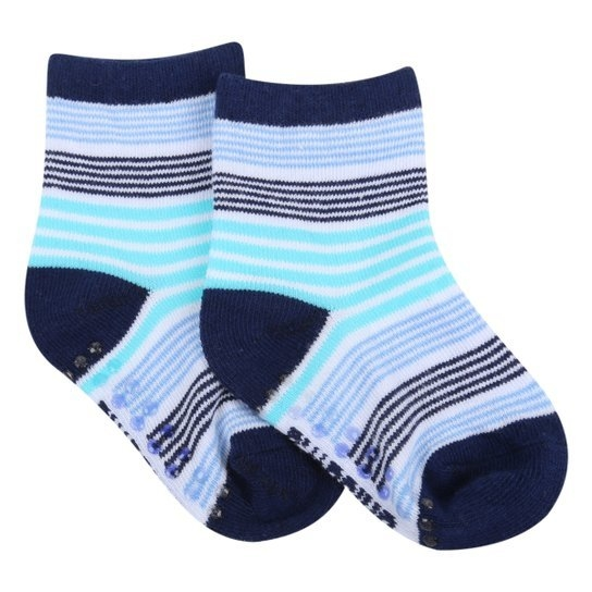 Meia Infantil Pimpolho Colorida 21a25 - Azul e Marinho