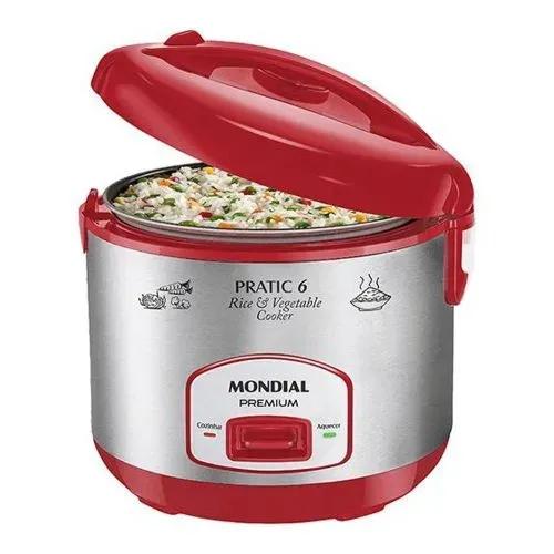 Panela Elétrica Pratic Rice 6 Xic Red Premium Mondial Pe-35 400w 127v