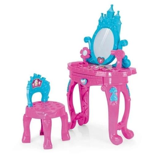 Penteadeira e Acessórios Princesa- Xplast Rosa