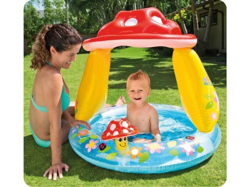 Piscina Inflável Bebês Cobertura Cogumelo - Intex Infantil