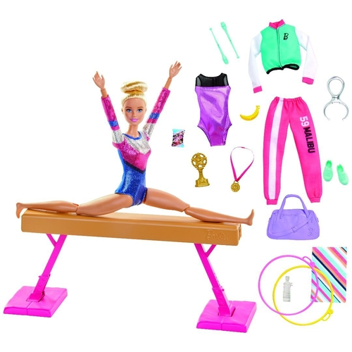 Playset e Boneca Barbie - Barbie Ginasta - Mattel - GJM72