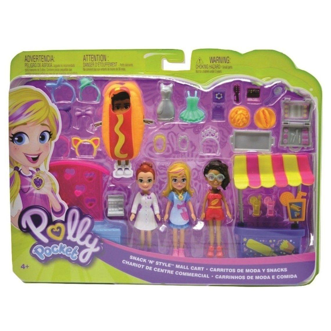 Polly Quiosque  Diversão  Shopping Mattel  GFR10  Cores Variadas