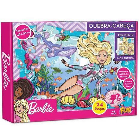 QUEBRA-CABEÇA 24 Peças Cartonada Fun Barbie