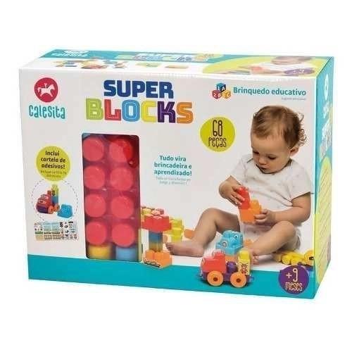 Super Blocks Blocos De Montar 39 Peças Calesita Coloridas 7