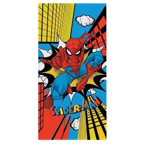Toalha De Banho Infantil Felpudo Spider Man Lepper 60X120Cm Estampada