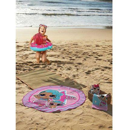 Toalha de Praia Infantil Redonda LOL Lepper Surprise