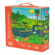 Quebra-Cabeça Gigante Bichos do Pantanal 36 peças