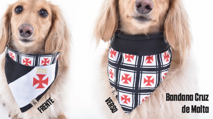 Bandana Dupla Face Cruz de Malta - Pet