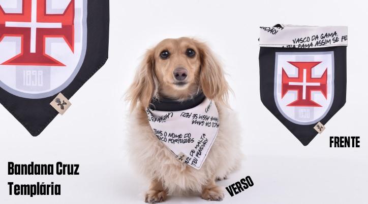 Bandana Dupla Face Cruz Templaria - Pet