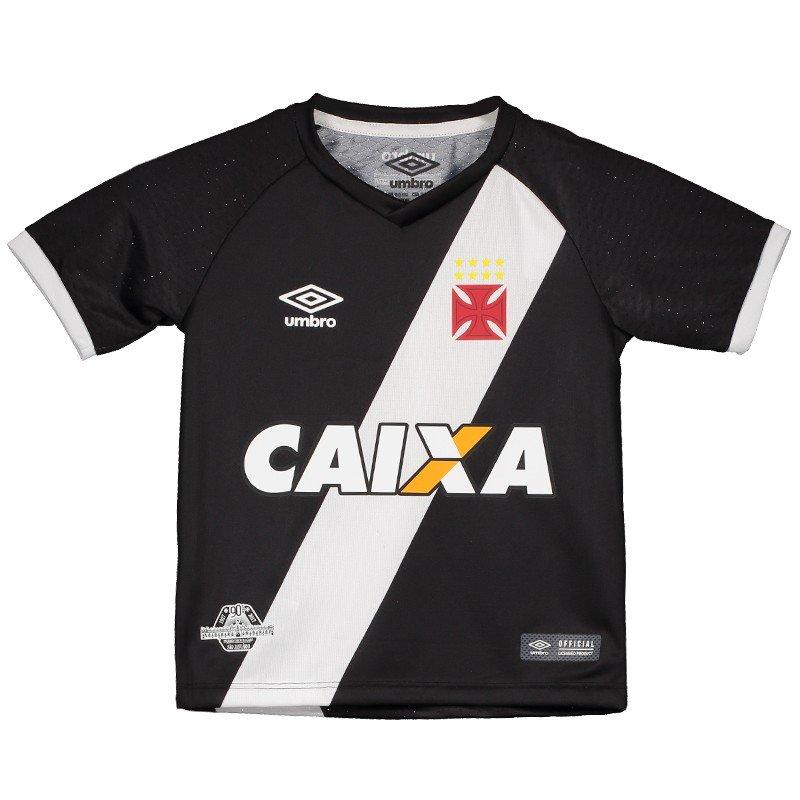 Camisa 1 Vasco infantil 2017 c/ patrocínio Umbro
