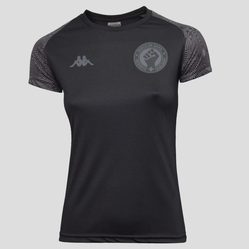 Camisa All Black Feminina Vasco da Gama - Respeito e Igualdade
