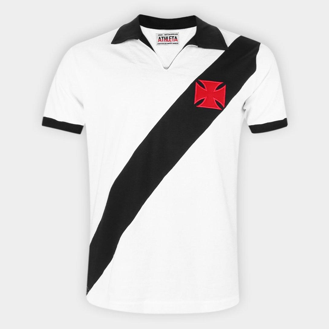 Camisa Athleta Retrô Masculina Anos 60 - Branca