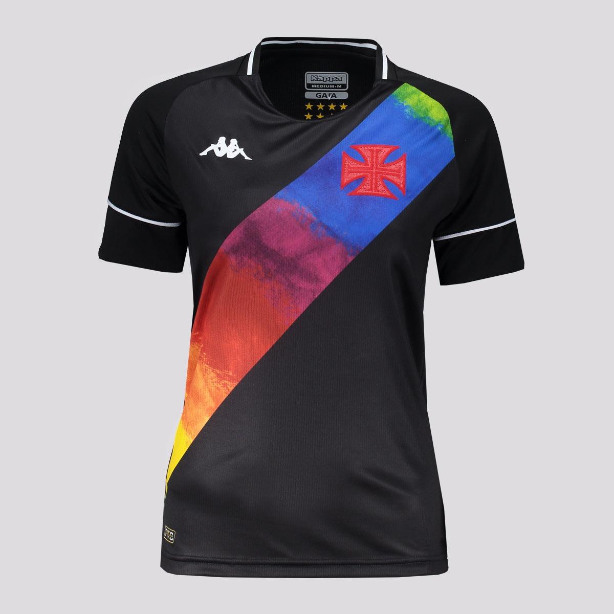 Camisa Feminina Orgulho LGBTQIA+ Preta - Kappa