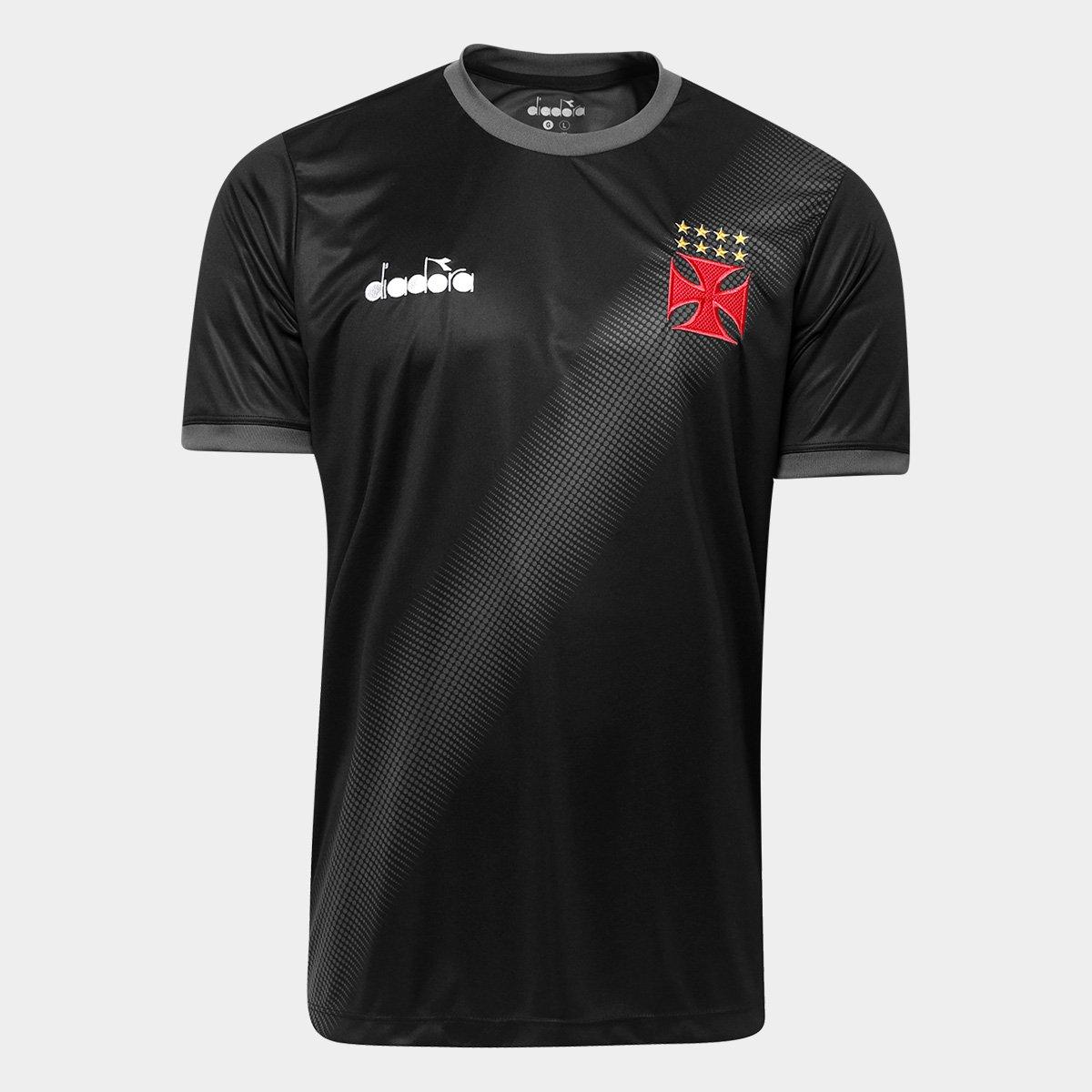Camisa Vasco aquecimento juvenil 2018 Diadora