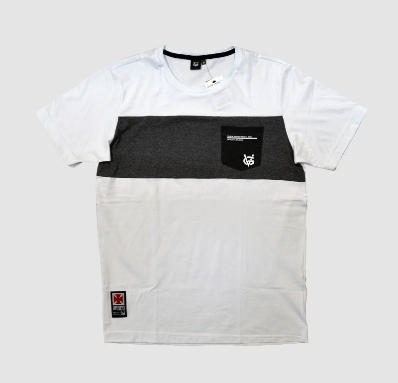 Camisa Vasco Bolso Branco - VG