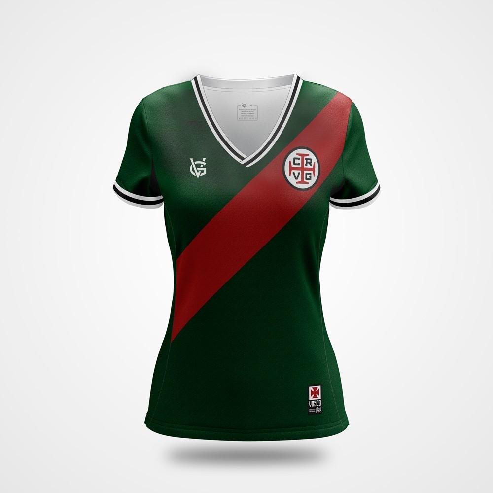 Camisa Vasco Feminina Dry Portugal Verde - VG
