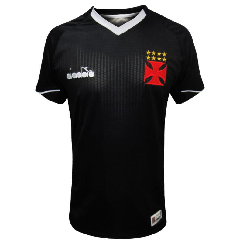 Camisa Vasco goleiro 3 jogador 2018 Diadora - Preta
