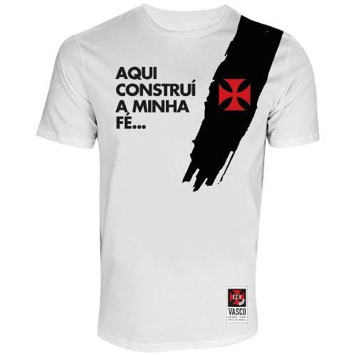 Camisa Vasco Pincelada Branca Fé