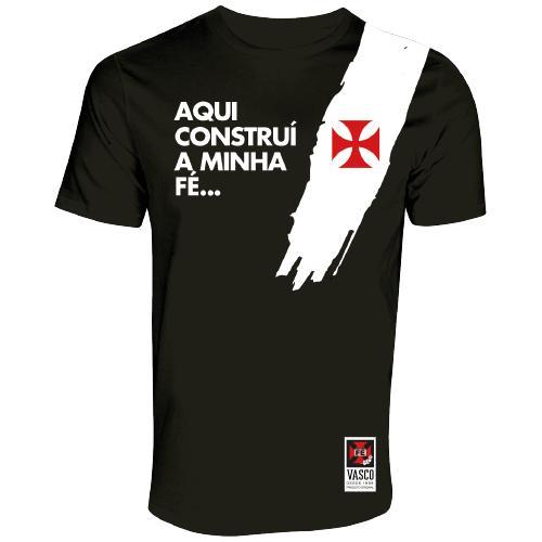 Camisa Vasco Pincelada Preto Fé