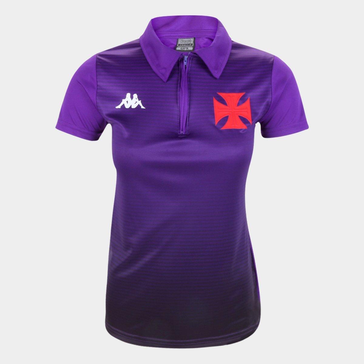 Camisa Vasco Polo Feminina Roxa - Kappa 2020
