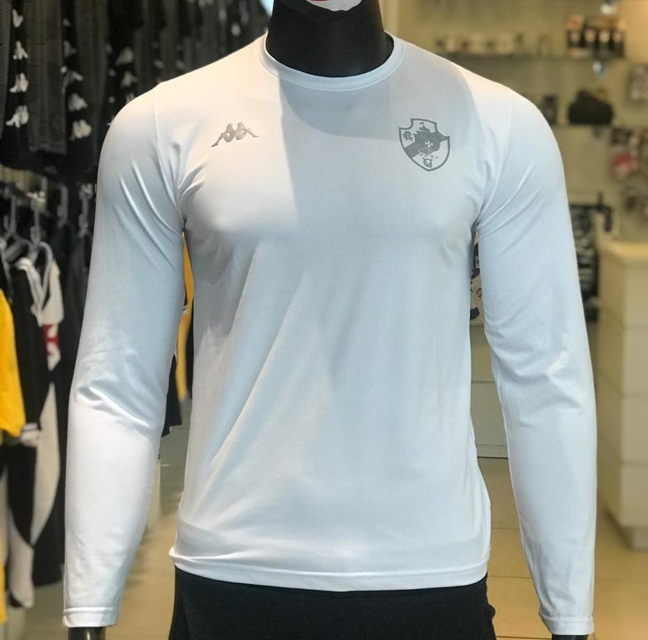 Camisa Vasco Térmica M/L Branca- Kappa 2020
