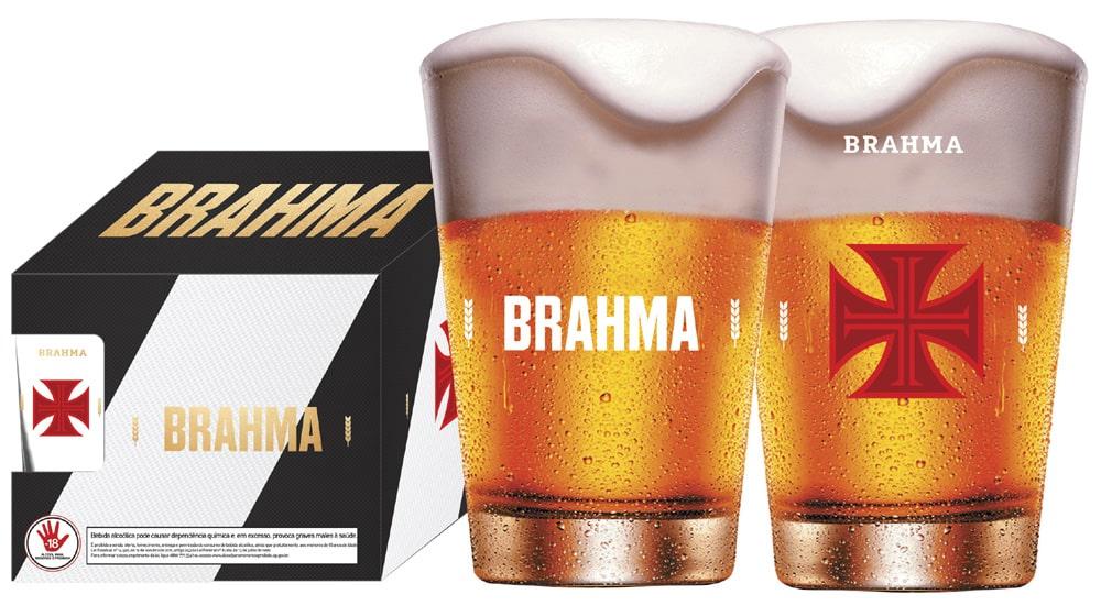 Conjunto Vasco com 4 copos Caldereta 350ML Brahma