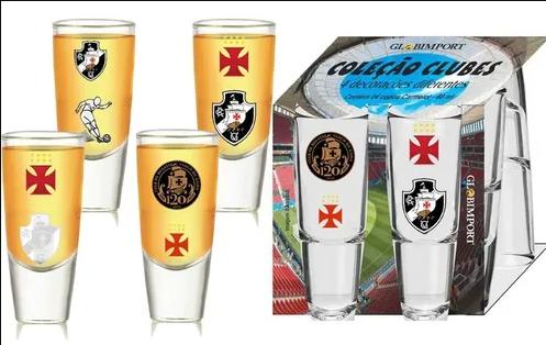 Conjunto Vasco com 4 copos Shot de Tequila 60ML