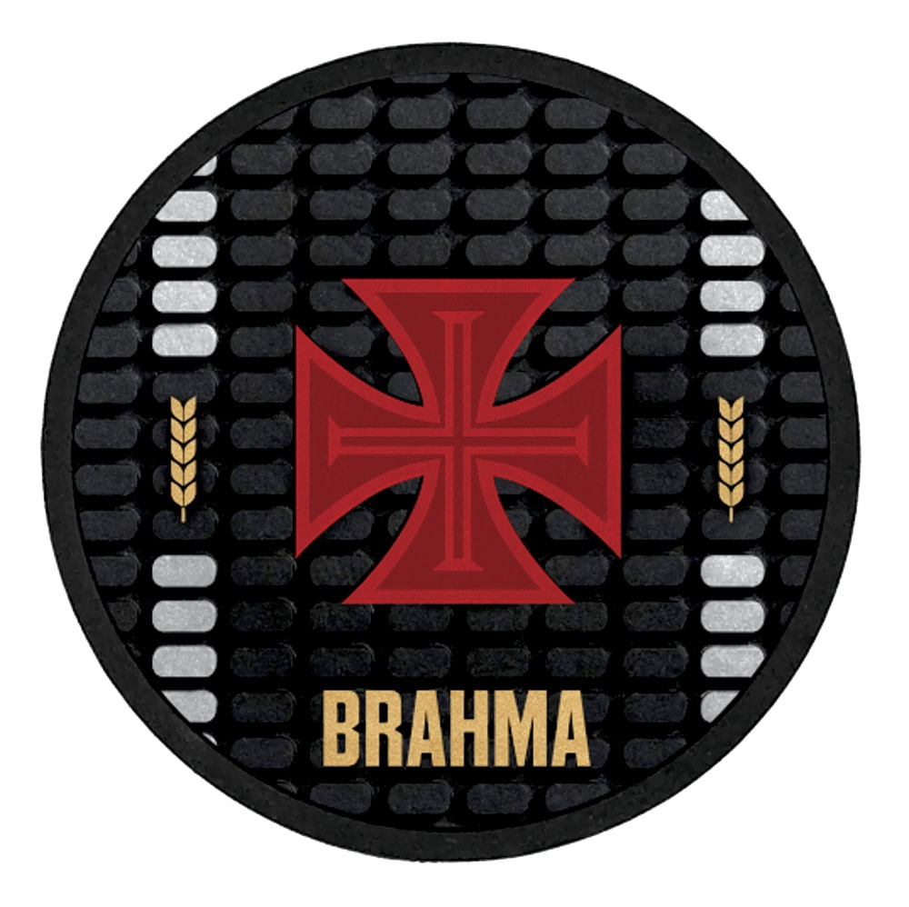Conjunto vasco com 4 Suportes para copos Brahma