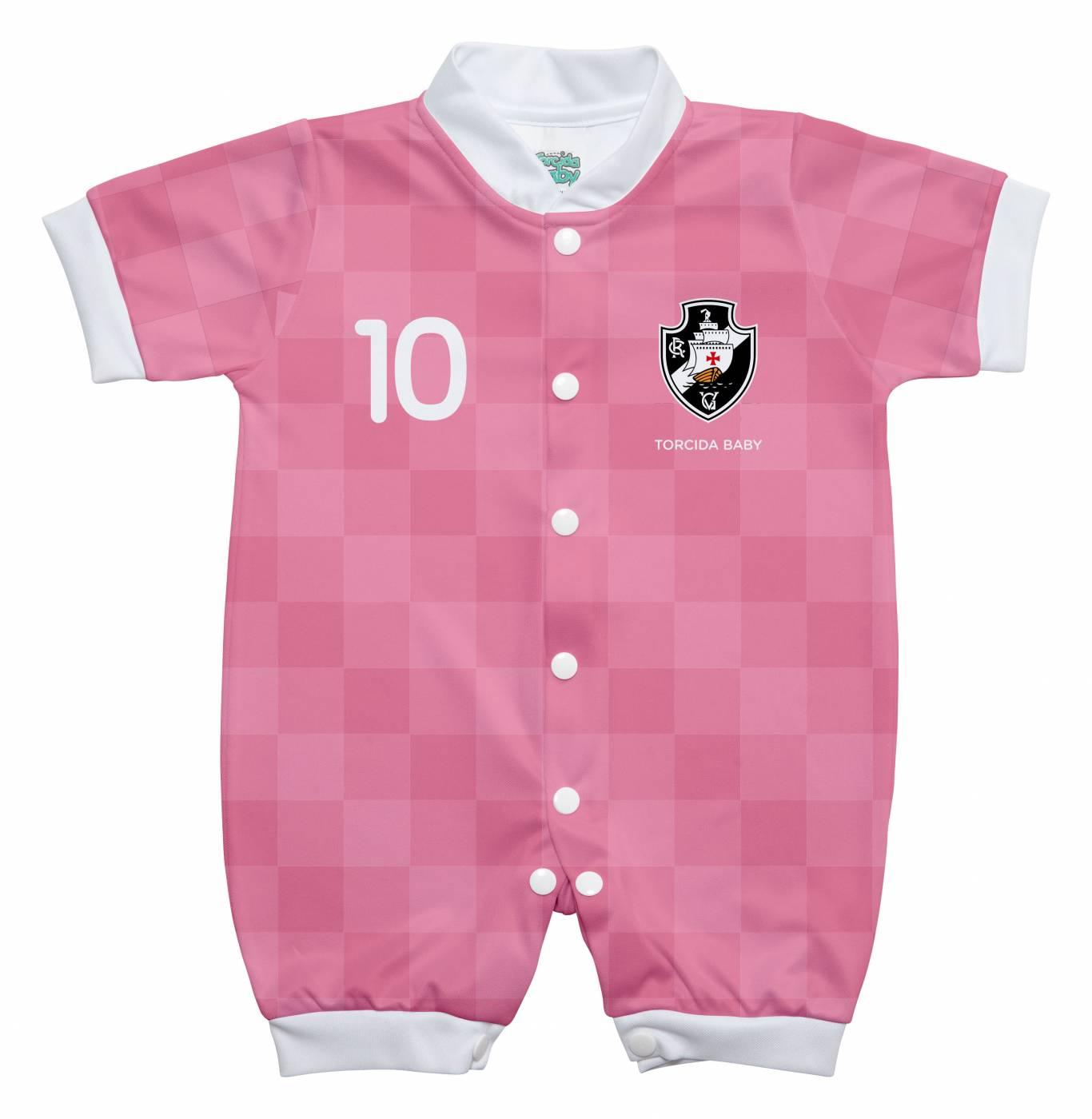 Macacão Vasco estilo 2 rosa