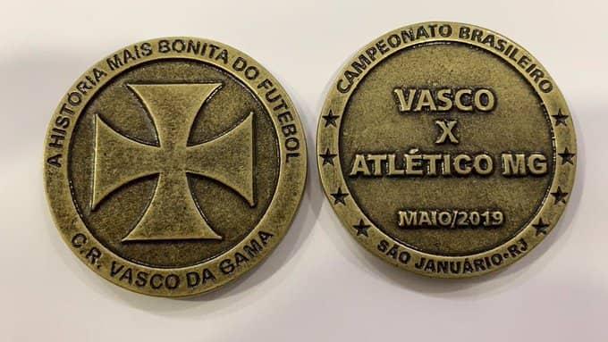 Moeda do jogo Vasco x Atlético MG