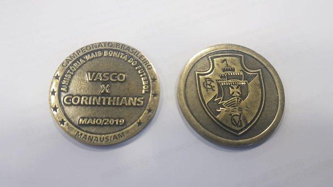 Moeda do jogo Vasco x Corinthians