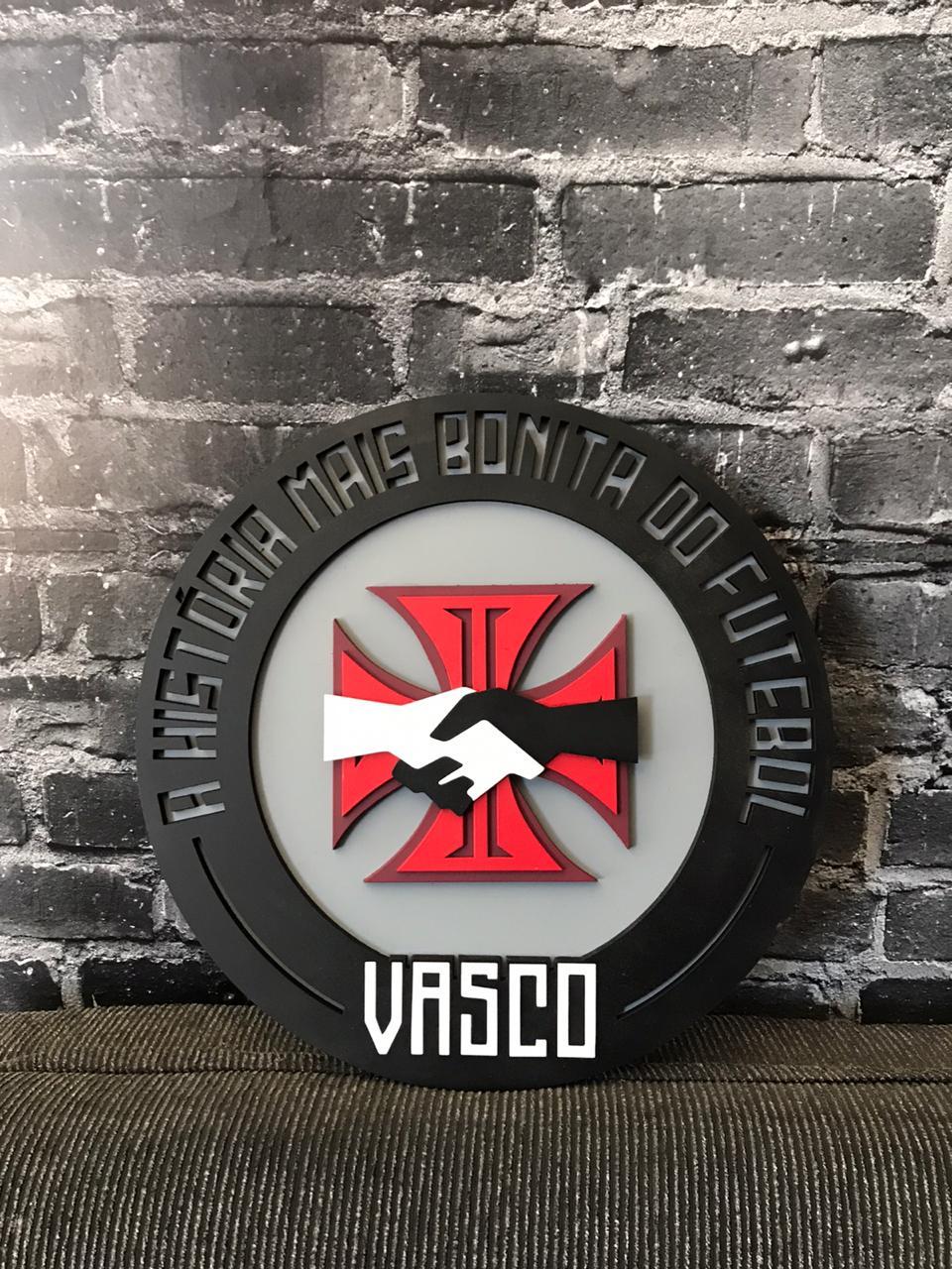 Placa Vasco MDF História Mais Bonita