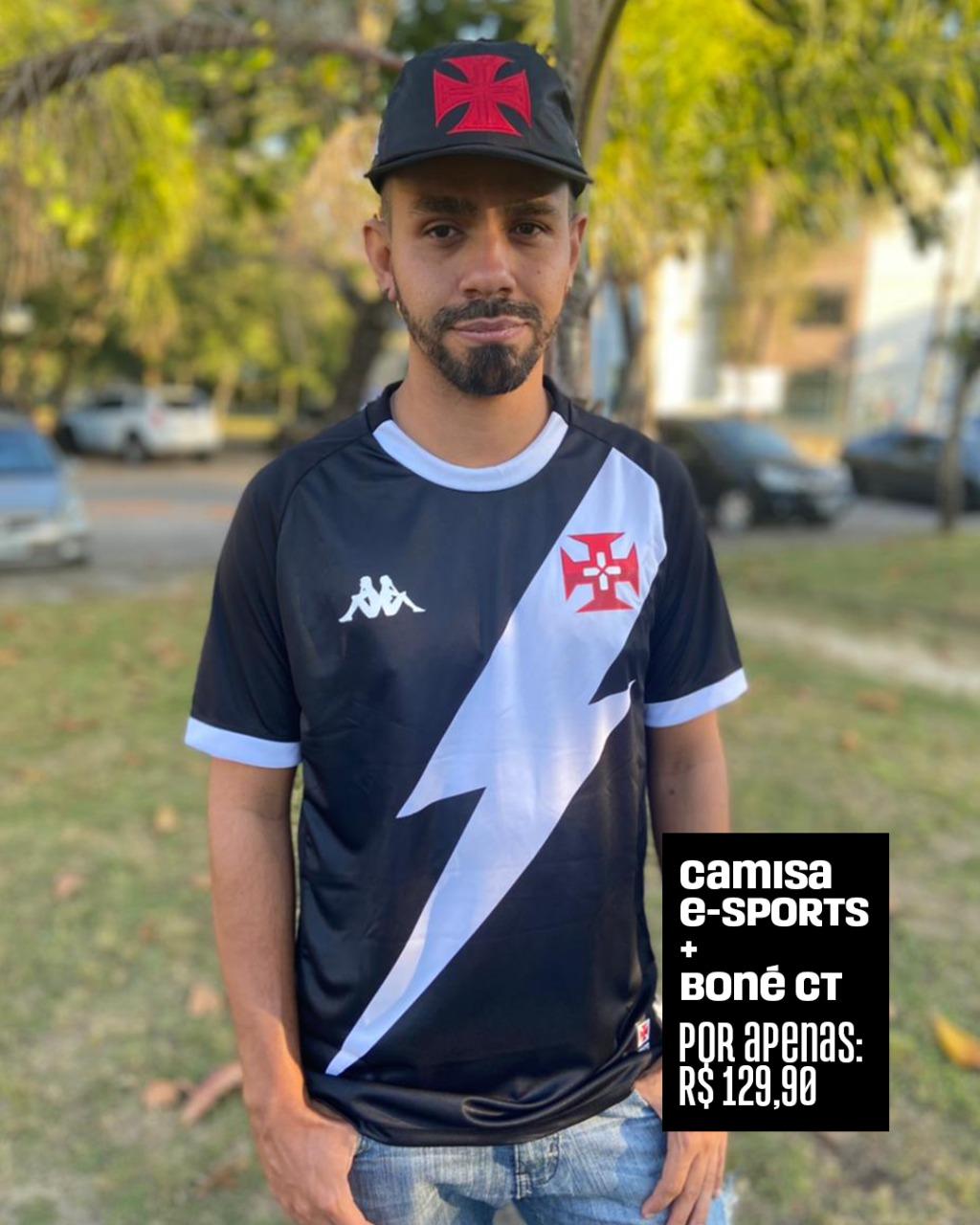 PROMOÇÃO - Camisa Vasco Player Sports + Boné Vasco CT