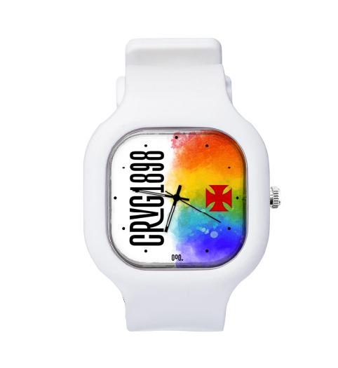 Relógio Diversidade com Pulseira de Silicone Blanc