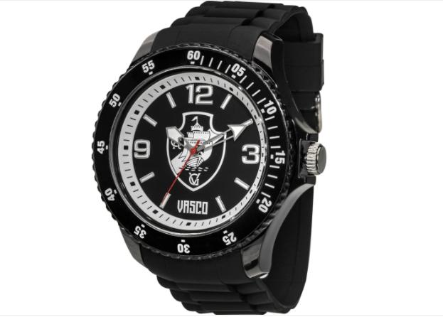 Relógio Vasco Escudo - Preto