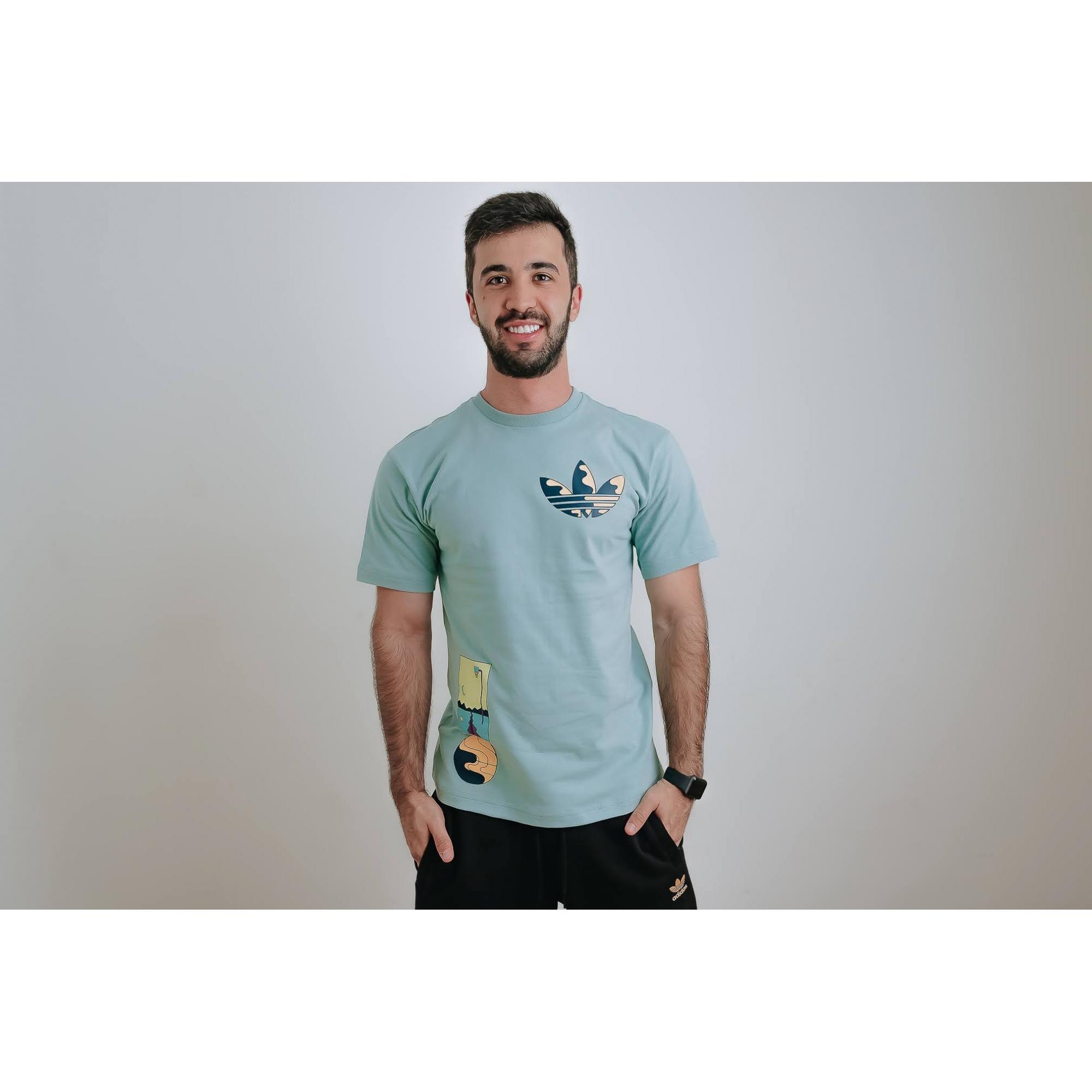 Camiseta Adidas Originals Surreal Sumer Verde